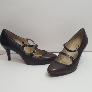 Talbots Mary Jane Leather Heels size 8